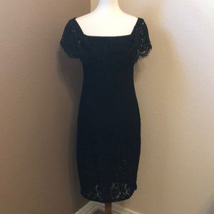 Forever 21 Contemporary Black Lace Dress Lg